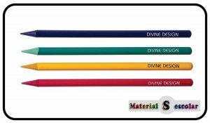 Lapices todo mina sin madera Divine Design Material Escolar