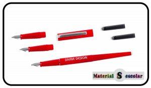 juego plumas caligrafia Divine Design Material Escolar