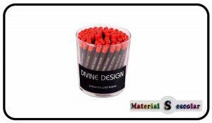 lapices mina blanda 4B de madera Divine Design Material Escolar