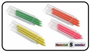 minas fluorescentes para lapices y portaminas