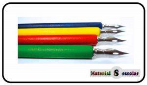 plumas escolares y plumillas de madera para niños Divine Design Material Escolar
