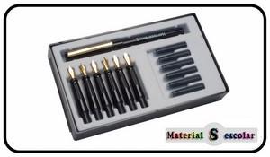 set caligrafia 6 plumas anchos diferentes de Standardgraph